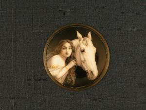 Femme au cheval blanc Diamètre 40mm