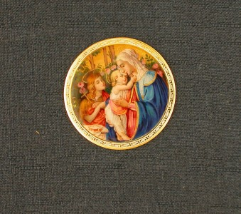Vierge et enfant avec le jeune saint Jean-Baptiste d'après Botticelli