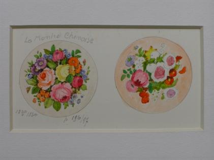 """Composition florale - Projet de miniature """"La montre chinoise"""""""
