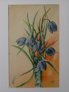 Clochettes bleues dans un vase