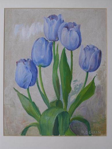 Les tulipes bleues