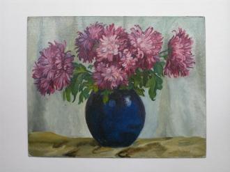 Vase de chrysanthèmes